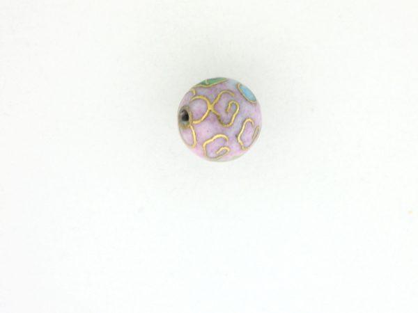 6006C - 6mm Round Cloisonne Bead - Pink