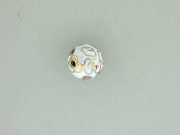 6006C - 6mm Round Cloisonne Bead - White