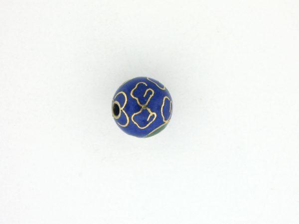 6008C - 8mm Round Cloisonne Bead - Blue