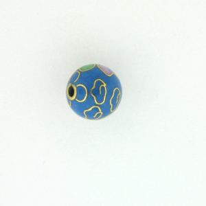 6008C - 8mm Round Cloisonne Bead - Light Blue