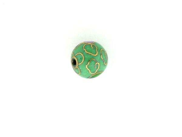 6008C - 8mm Round Cloisonne Bead - Light Green