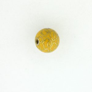 6008C - 8mm Round Cloisonne Bead -  Yellow
