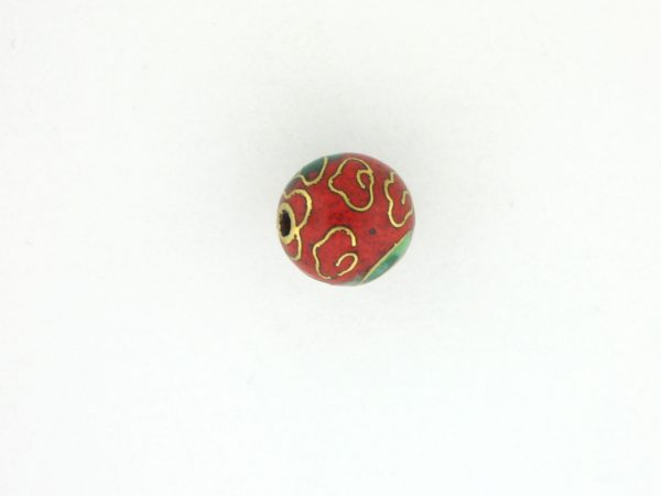 6008C - 8mm Round Cloisonne Bead -  Red
