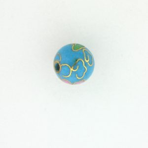 6008C - 8mm Round Cloisonne Bead -  Turquoise