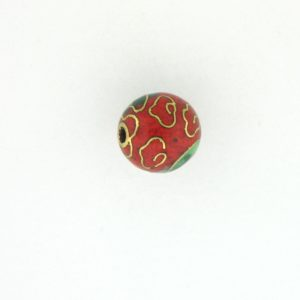 6014C - 14mm Round Cloisonne Bead - Red