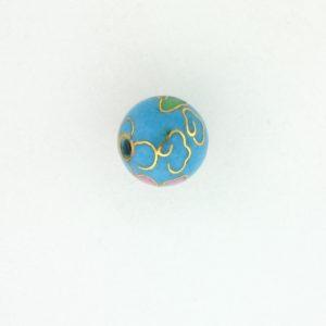 6014C - 14mm Round Cloisonne Bead - Turquoise