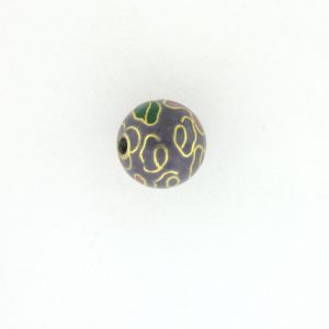 6020C - 20mm Round Cloisonne Bead - Purple