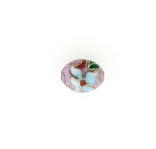 7310C - 7x9mm Oval Cloisonne Bead - Pink