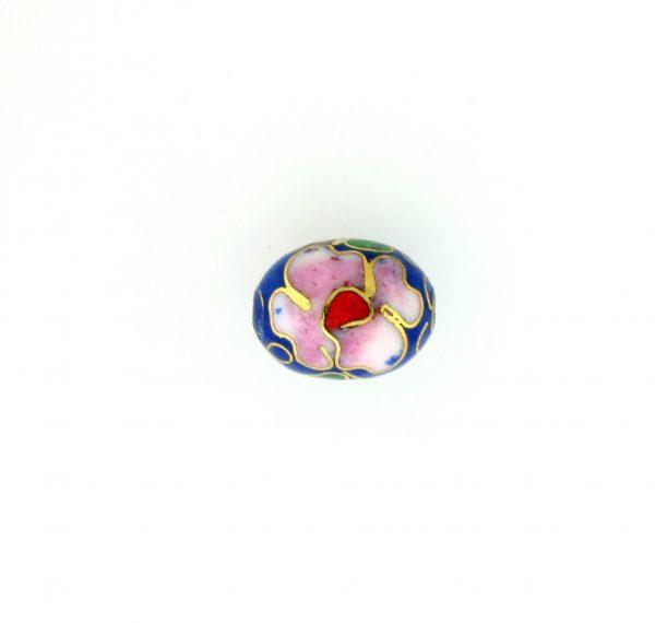 7311C - 11x9mm Oval Cloisonne Bead - Blue