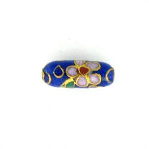 7714C - 12.5x5 Tube Cloisonne Bead - Blue