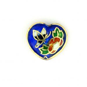 8000P - 18mm Porcelain Fancy Heart - Blue