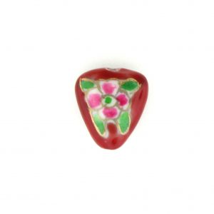 8002P - 14x12mm Flat Porcelain Bead - Red