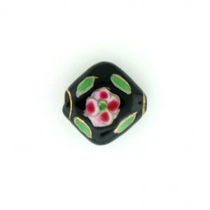 8100P - 13mm Flat Porcelain Bead - Black