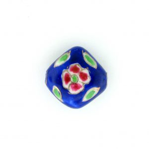 8100P - 13mm Flat Porcelain Bead - Blue