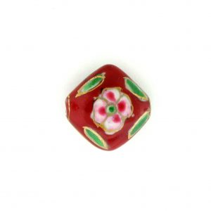 8100P - 13mm Flat Porcelain Bead - Red