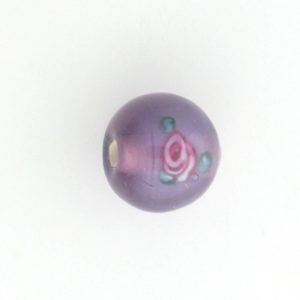 6414F - 14mm Round Floral Bead - Light Amethyst