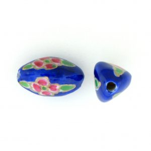 8102P - 15x9 Fancy Porcelain Bead - Blue