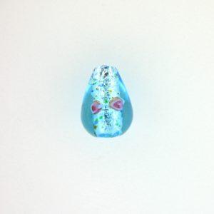 6214L - 14x9mm Lamp Drop Bead - Aquamarine