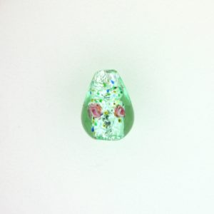 6214L - 14x9mm Lamp Drop Bead - Light Green