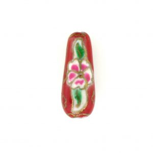 8200P - 8x20mm Drop Porcelain Bead - Red