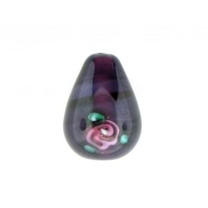 6616F - 16x10mm Floral Drop Bead - Amethyst