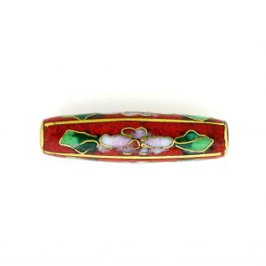 8201C - 32x8.5mm Tube Cloisonne Bead - Red