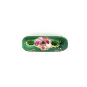 8203P - 20x6mm Tube Porcelain Bead - Green