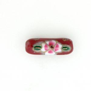 8203P - 20x6mm Tube Porcelain Bead - Red