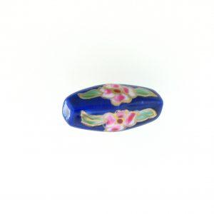 8205P - 21x9mm Tube Porcelain Bead - Blue
