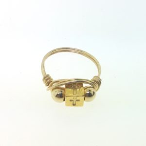 12141 - Gold Filled Ring - Cross
