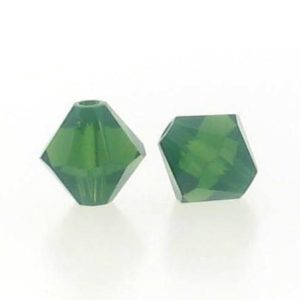 5301/5328 - 6mm Swarovski Bicone Crystal Bead -Palace Green Opal