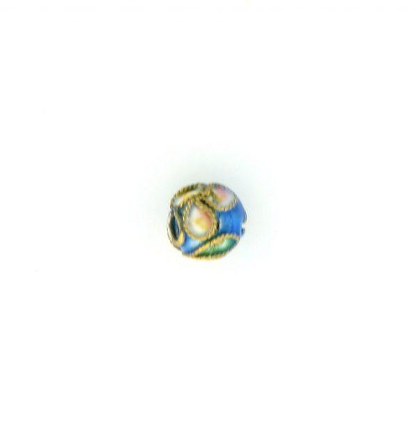 8306AW - 6mm  Round Cloisonne Bead - Light Blue