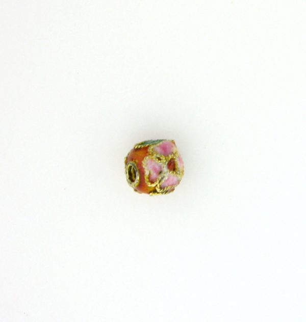 8306AW - 6mm  Round Cloisonne Bead - Brown