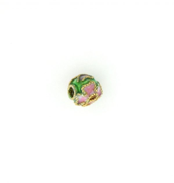 8306AW - 6mm  Round Cloisonne Bead - Green