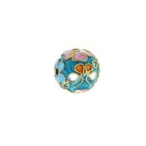 8312AW - 12mm Round Cloisonne Bead - Light Blue