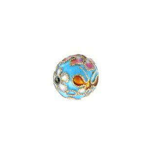 8312AW - 12mm Round Cloisonne Bead - Turquoise