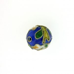 8314AW - 14mm Round Cloisonne Bead - Blue