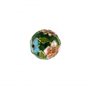 8314AW - 14mm Round Cloisonne Bead - Green