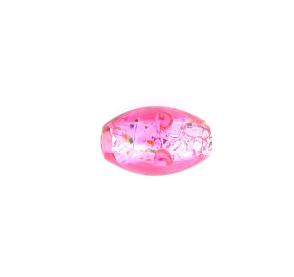 6211L - 11x8mm Oval Lamp Bead - Pink