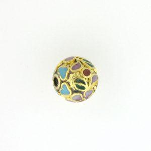 8505C - 5mm Round Cloisonne Bead - Gold