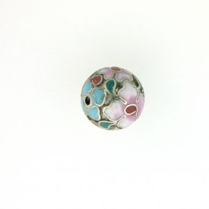 8506C - 6mm Round Cloisonne Bead - Silver