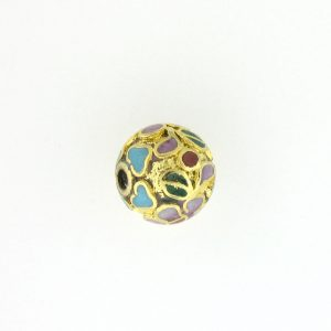 8516C - 16mm Round Cloisonne Bead - Gold