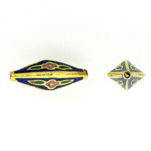 8600C - 21x10mm Fancy Cloisonne Bead - Blue