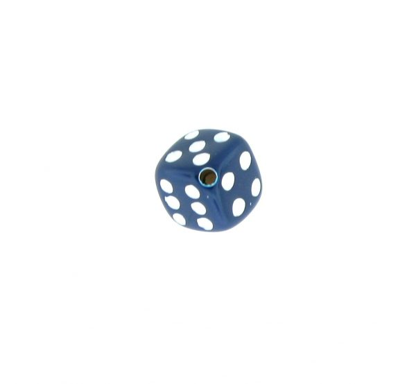9012 - 5x5mm Small Dice Bead - Navy Blue