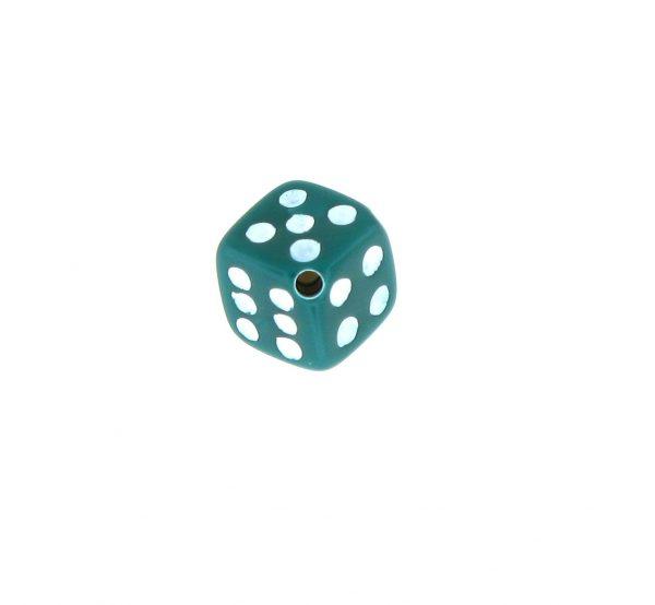 9012 - 5x5mm Small Dice Bead - Green
