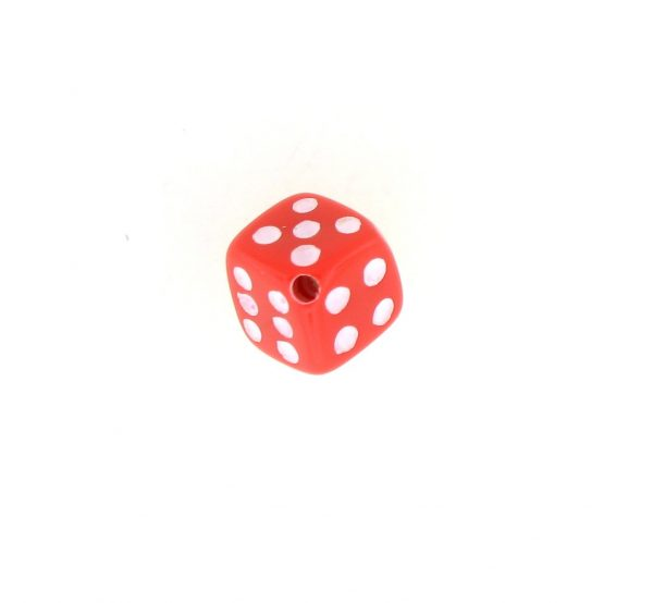 9012 - 5x5mm Small Dice Bead - Red