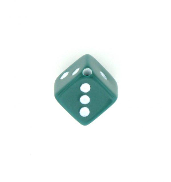 9013 - 7.5x7.5mm Medium Dice Bead - Green