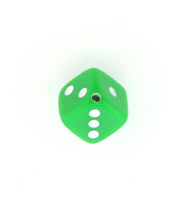9013 - 7.5x7.5mm Medium Dice Bead - Light Green