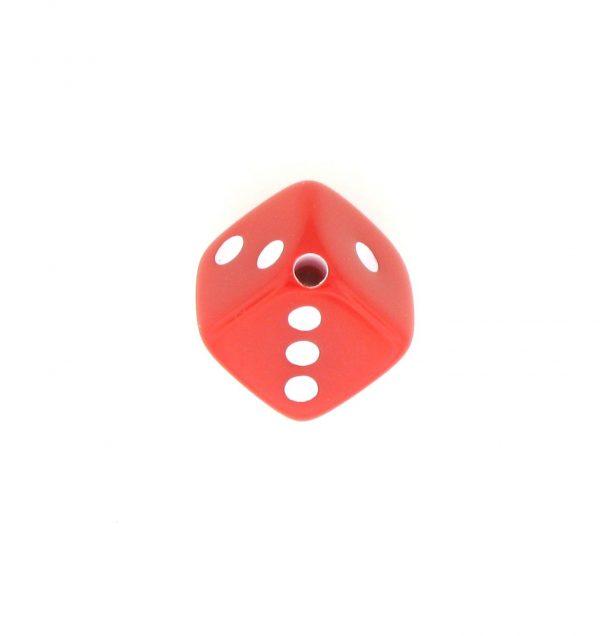 9013 - 7.5x7.5mm Medium Dice Bead - Red