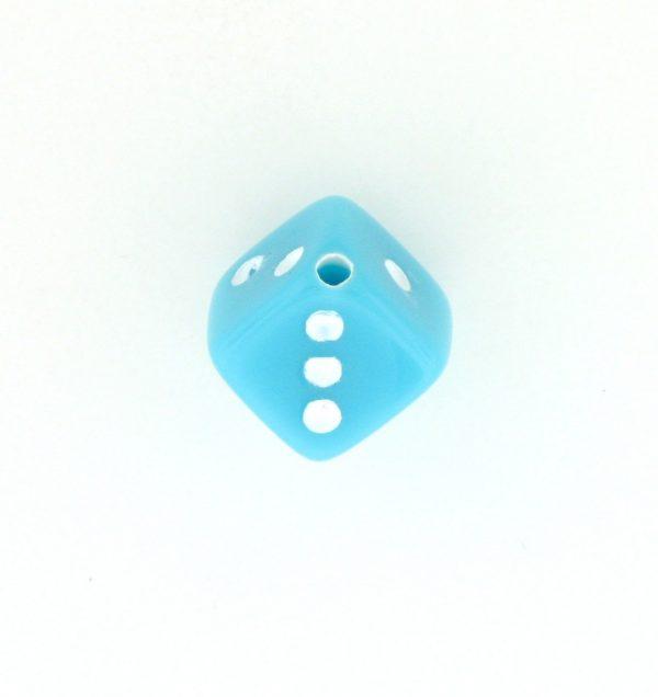 9013 - 7.5x7.5mm Medium Dice Bead - Turquoise